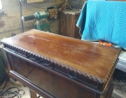 Elite furniture service/ Lane hope chest before restoration