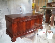 Elite furniture service/ Restored lane hope chest after restoration