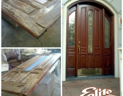 Entryway door before/after