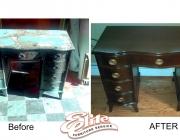 Desk before/after