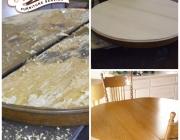Burnt table restoration